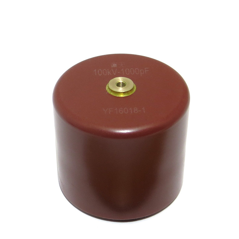 001uf 100kv Threaded High Voltage Ceramic Doorknob