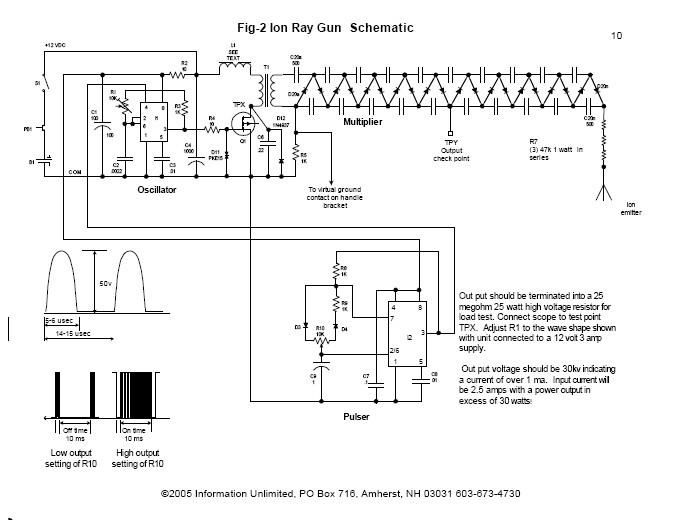 Tremendous Ion Ray Gun 100Kv M Paper Plans Information Unlimited Wiring 101 Breceaxxcnl