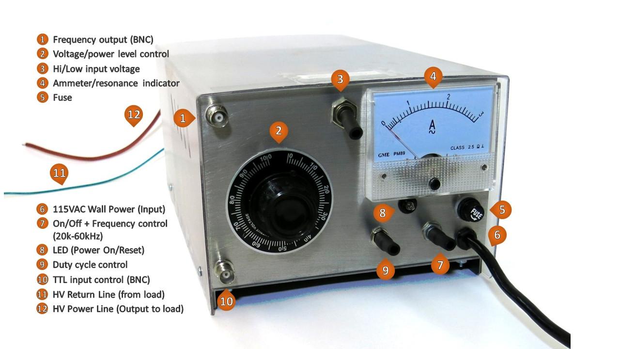 1 40kv 20 70khz 10 300w Adjustable Power Supply 50pfd Loads Powersupply Image
