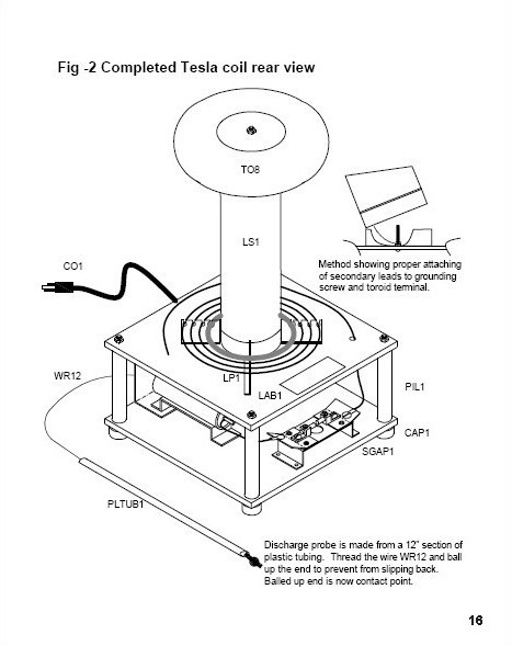 250 000 volt table top tesla coil  paper plans