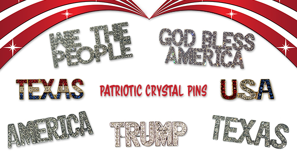Patriotic Crystal Pins