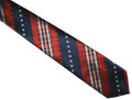 Patriotic tartan design with rows of stars.
