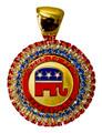 Cloisonne Republican Crystal Neckslide