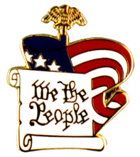 """""""We the People"""" Lapel Pin."""