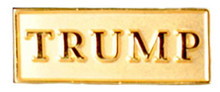 TRUMP gold lapel pin. Size: 1""