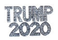 "Show your support for Donald Trump in 2020! Diamond like Swarovski crystal, silver-plate brooch/pin. Pin back with safety lock. Size: 1½""W x 1""H"