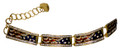 "Patriotic elegant 4 flag bracelet! Swarovski crystal, enamel, gold-plated. (Adjusts 6½"" to 8"")."