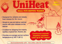 40 Hours heat packs are the most used het packs in reptile shipping.