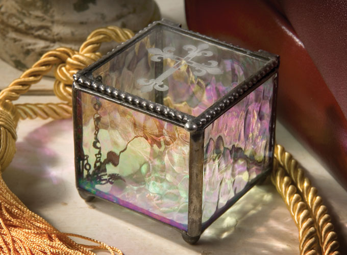 Religious gifts faith inspired gifts for special occasions and use this etched cross glass box as an adult easter basket negle Gallery