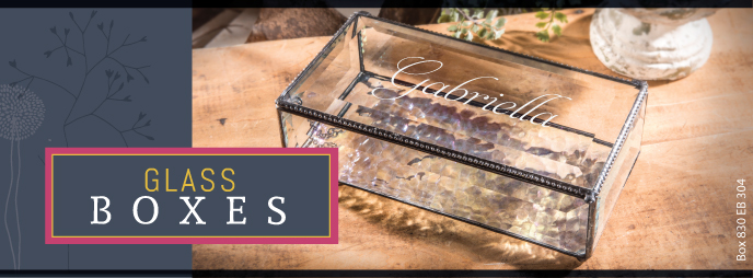Personalized Glass Box makes a great gift, personalize options available, variety of glass box styles