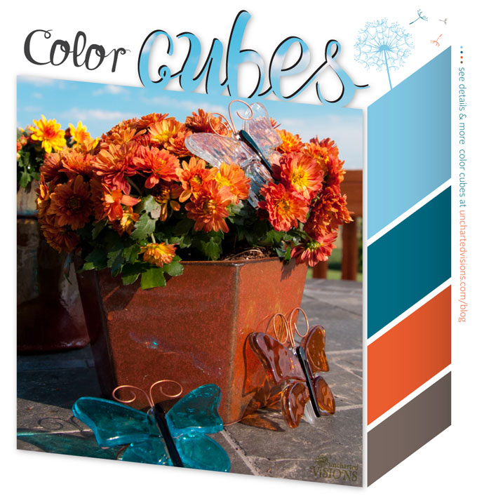 Spring Color Cubes color palette inspiration has bold colors to add cheer to your home decor.