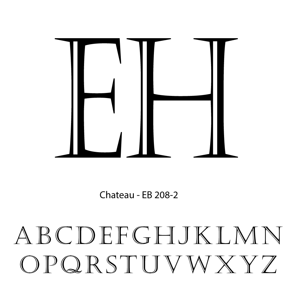 Double Letter Personalization-Chateau