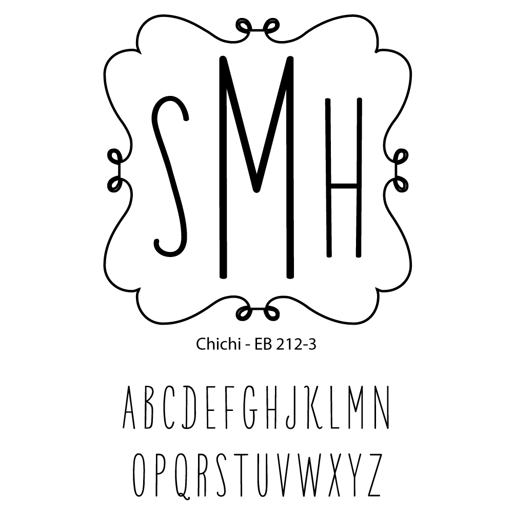 Triple Letter Monogram-chichi