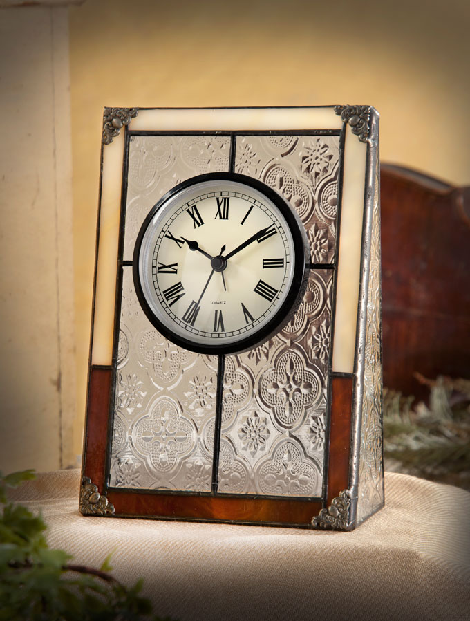 Deck out Dad's Den with a glass desk clock