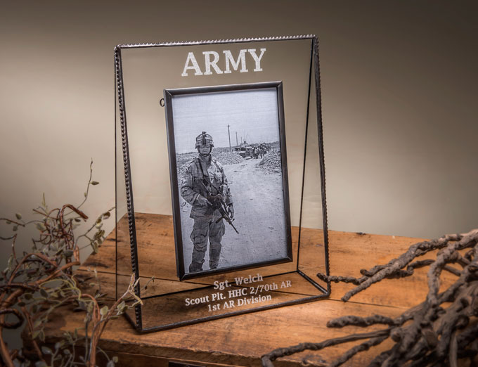Personalized gifts to commemorate service.