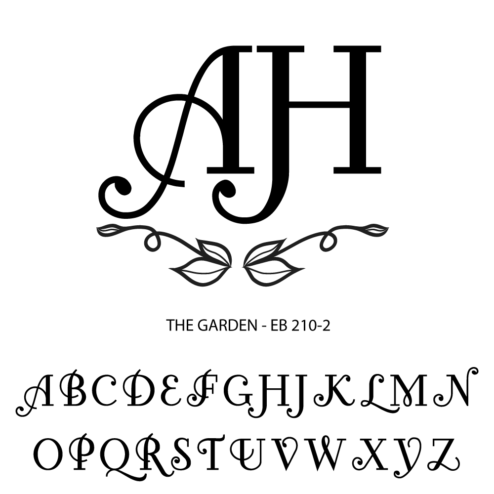 Double Letter Personalized Gifts-garden