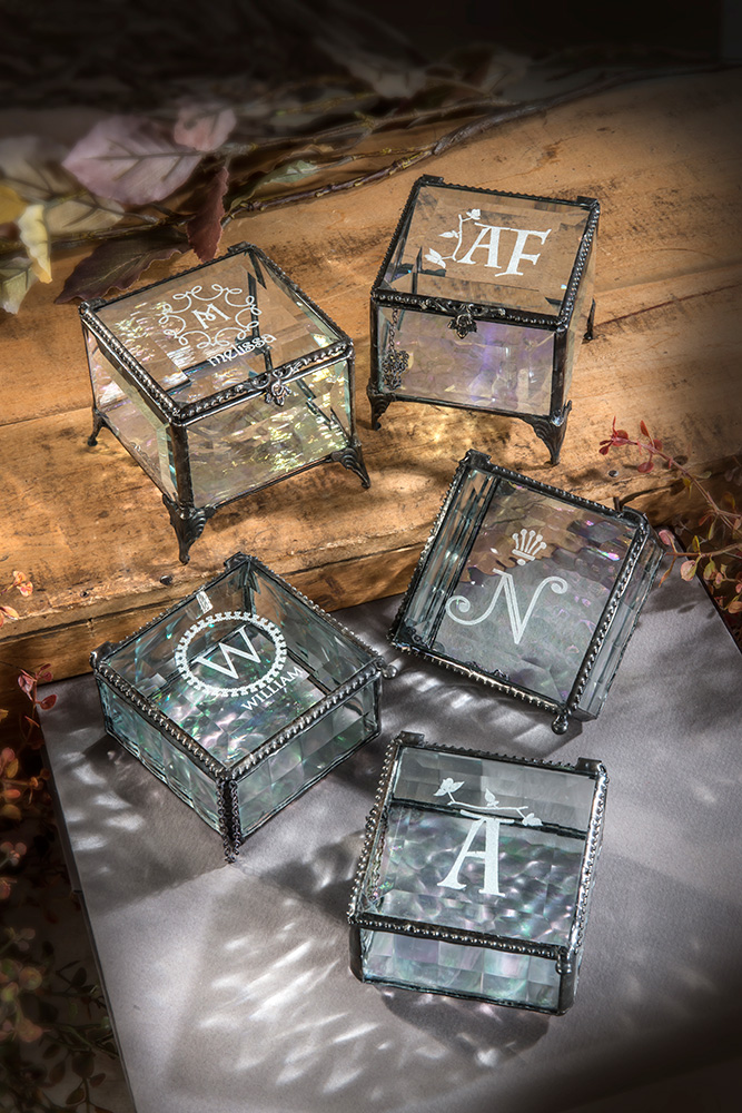 new personalized gift options on glass art jewelry boxes