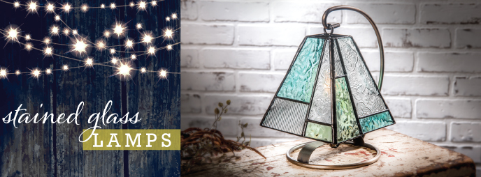 J. Devlin Stained Glass Lamps. Lighting that has a vintage feel, great for dad's den, family room or office lighting.