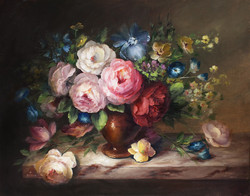 V4031 Vase of Flowers Van Dael Inspiration (Download Only)