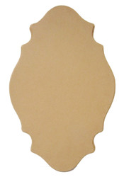Small Four-Point Oval Plaque