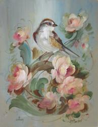 V1127 Casual Birds & Scrolls Download
