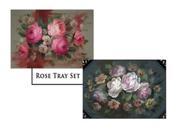 Rose Tray Greeting Card Set
