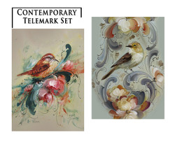 Contemporary Telemark Greeting Card Set