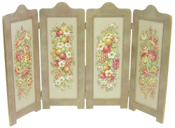 P4012 Soft Fruit and Floral Firescreen $10.95