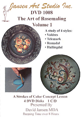 DVD1008 The Art of Rosemaling