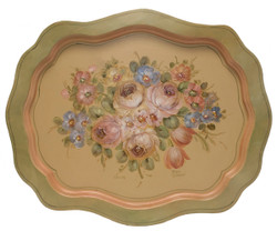 Bavarian Floral Scalloped Tray