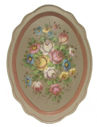 SOLD Soft Stroke Floral Tray SOLD