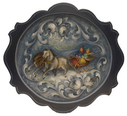 Christmas Sleigh Ride Royal Tray $350.00  SOLD
