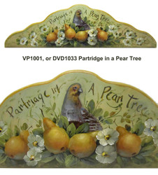 DVD1033 Partridge Doorcrown- Paint It Simply