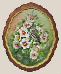 DVD1043 Pied Flycatcher and Rose of Sharon