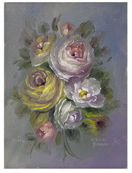 Transparent Florals on Canvas board