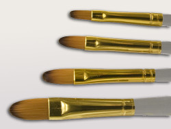Synthetic Filberts 4 Brush Set
