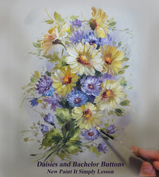 P1103 Daisies and Bachelor Buttons- Download