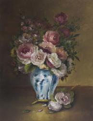 SOLD Vase of Flowers