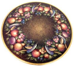 P1002 Golden Fruit and Birds $5.95