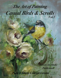 B5022 Birds and Scrolls for Art of Painting- Printed