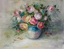 DVD1107- Vase of Casual Roses- Art of Painting Series
