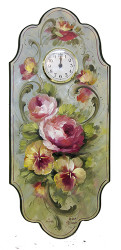 V1090A Flowers of Spring Clock (Download Only)