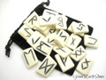 Bone Rune Stones with Pouch