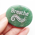 BREATHE Aventurine Palm Stone
