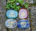Four Elements Symbol Stone Set