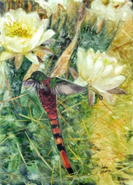 The original image was painted with watercolor on Yupo paper by Jody O'Meara.