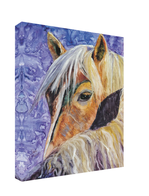 Hand stretched canvas comes with an artist wrap.
