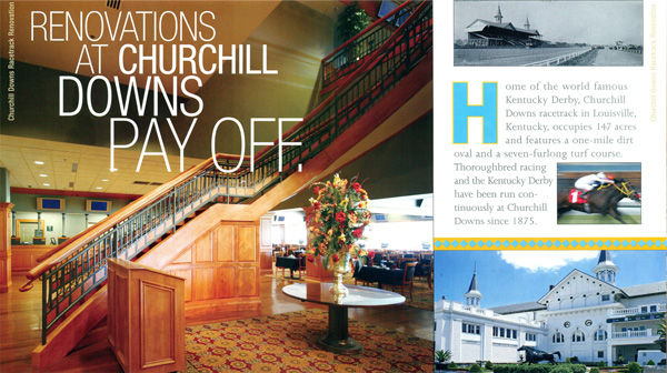 Churchill Downs Renovation with New England Classic