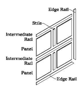 Modern wood paneling system illustration