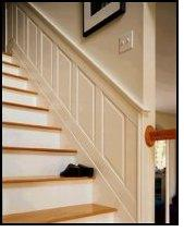 Special Stair Panel Sets® Have Angled Panels For Stairway Walls.